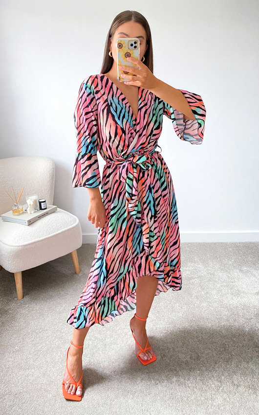 Cindi Printed Midi Dress