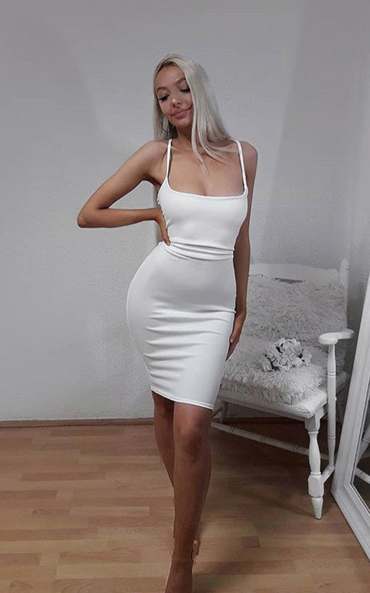 Cindie Backless Strappy Bodycon Dress