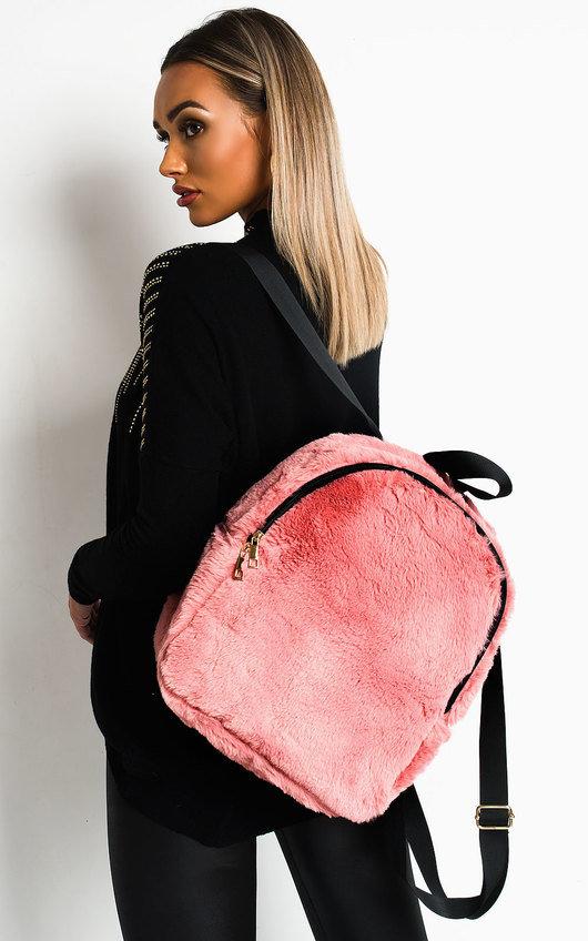 Cindy Faux Fur Backpack Bag