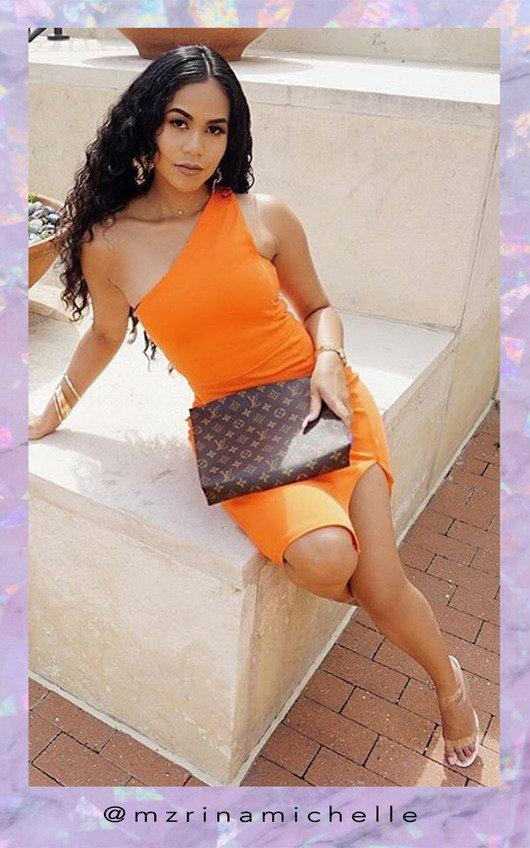 Cindy One Shoulder Bodycon Dress