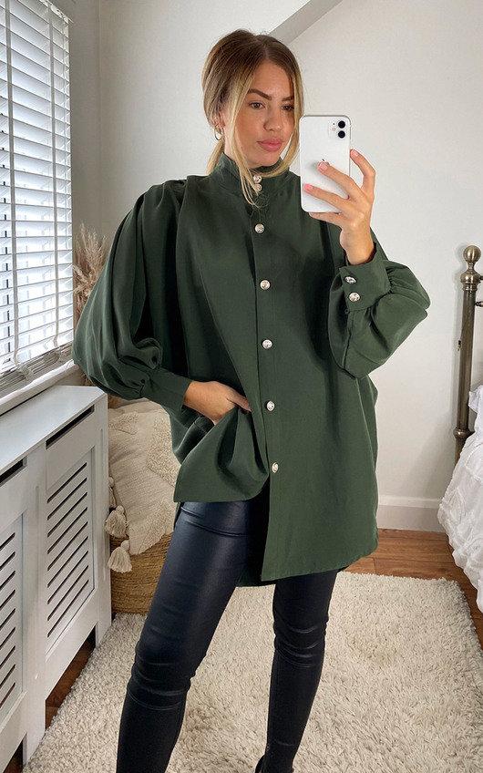 Cindy Oversized High Neck Shirt