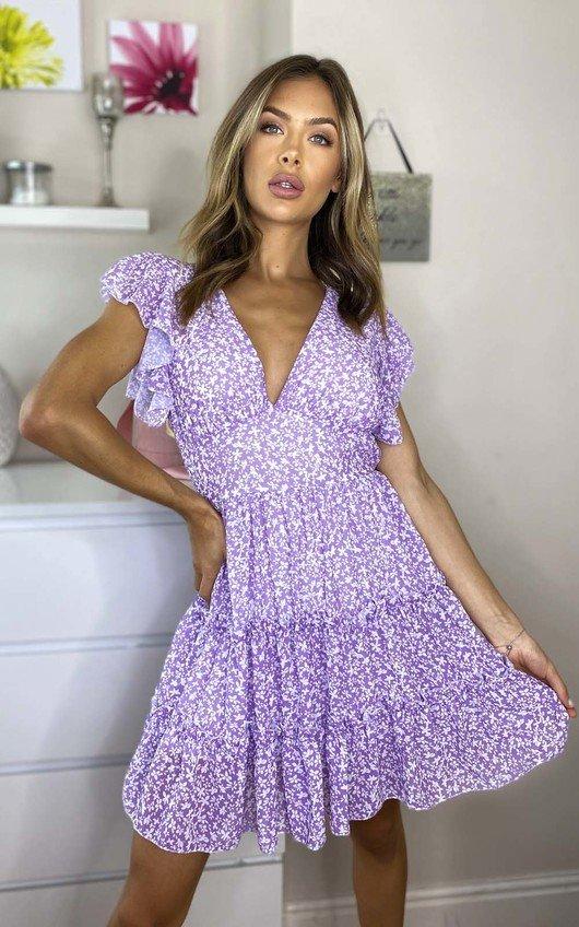 Cinzia Ditsy Print Layered Shift Dress