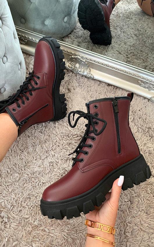 Cinzia Faux Leather Biker Boots
