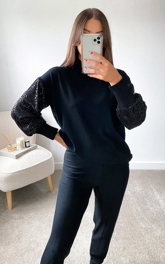 Cinzia Sequin Sleeve Tracksuit Co-Ord
