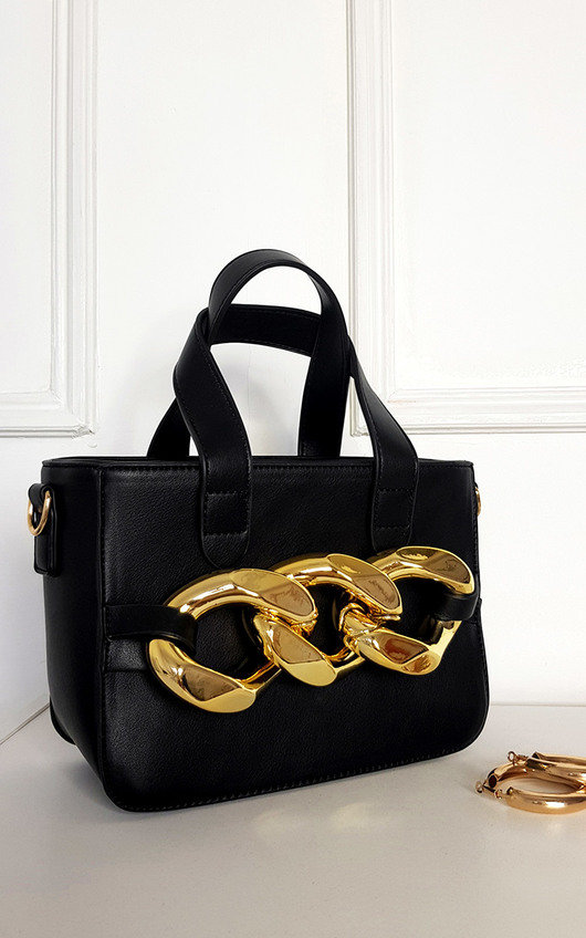 Claire Faux Leather Bag with Extreme Chain Detail
