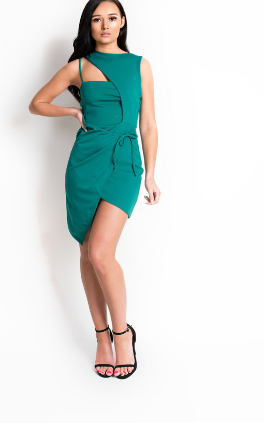 Clara Bodycon Wrap Dress