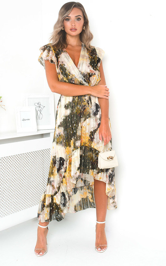 Clara Chiffon Wrap Maxi Dress