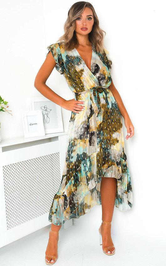 Clara Chiffon Wrap Maxi Dress