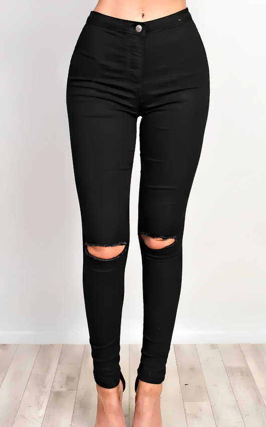 Clara Distressed Skinny Jeans