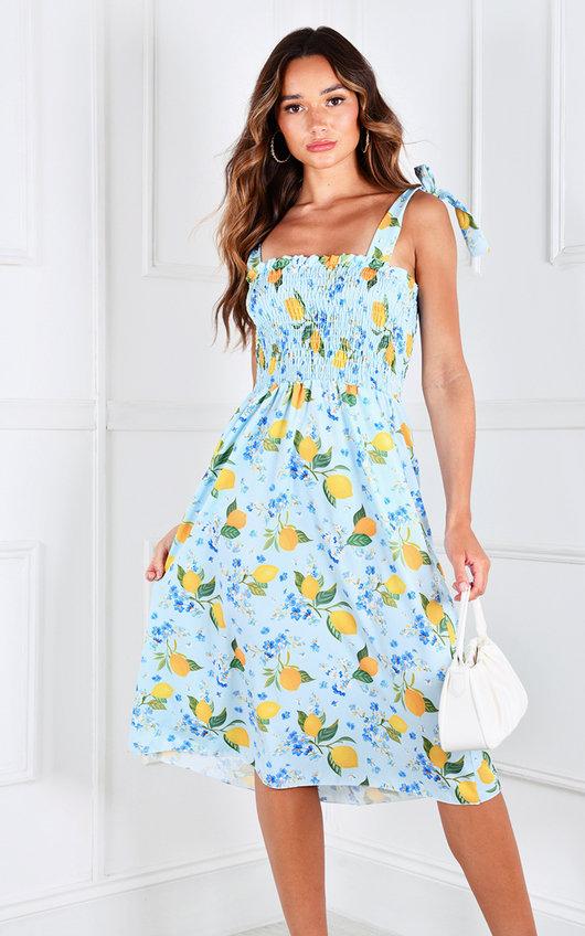 Clelia Printed Midi Dress