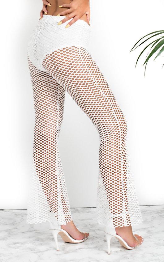 Cleo Mesh Flared Trousers