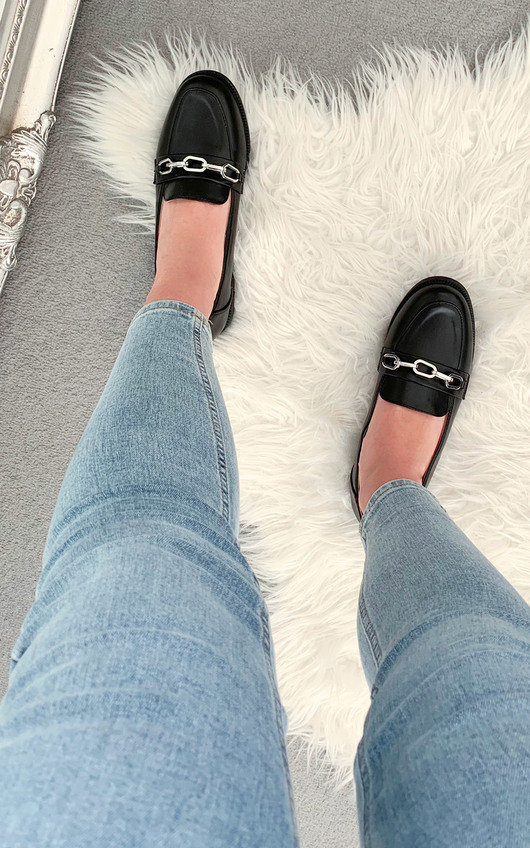 Gracelyn Faux Leather Loafer Flats