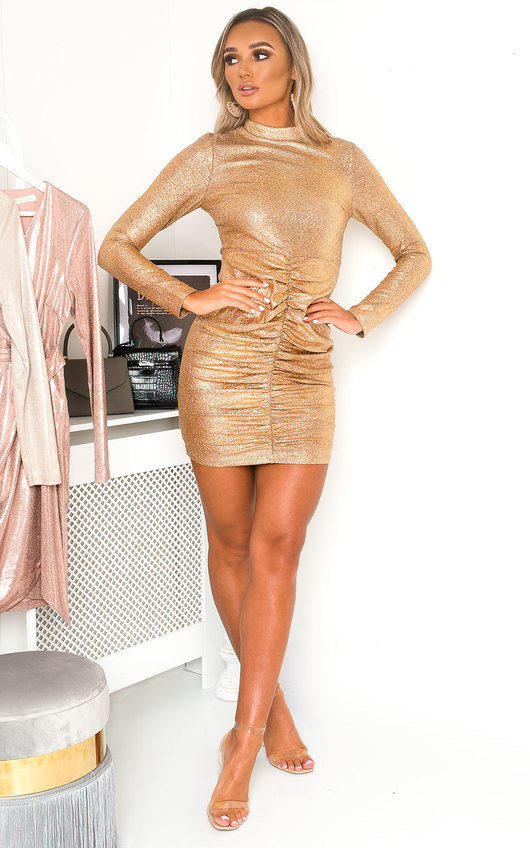 Tammy High Neck Mini Dress
