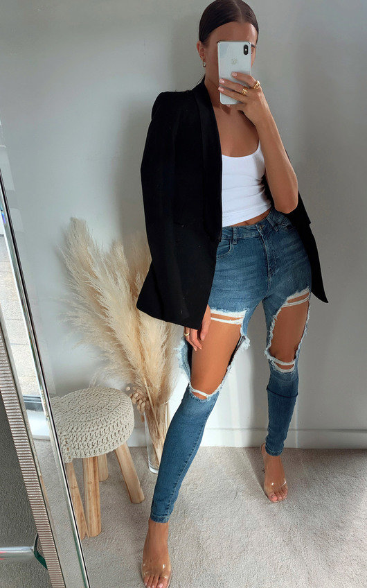 Cole Distressed Skinny Jeans