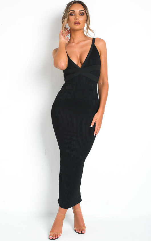 Cole Low Cut Fitted Maxi Dress