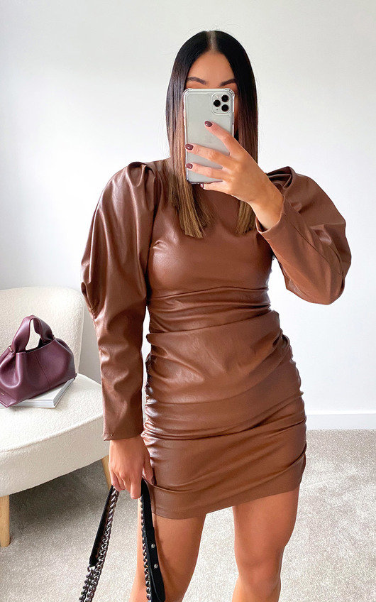 Colette Faux Leather Mini Dress