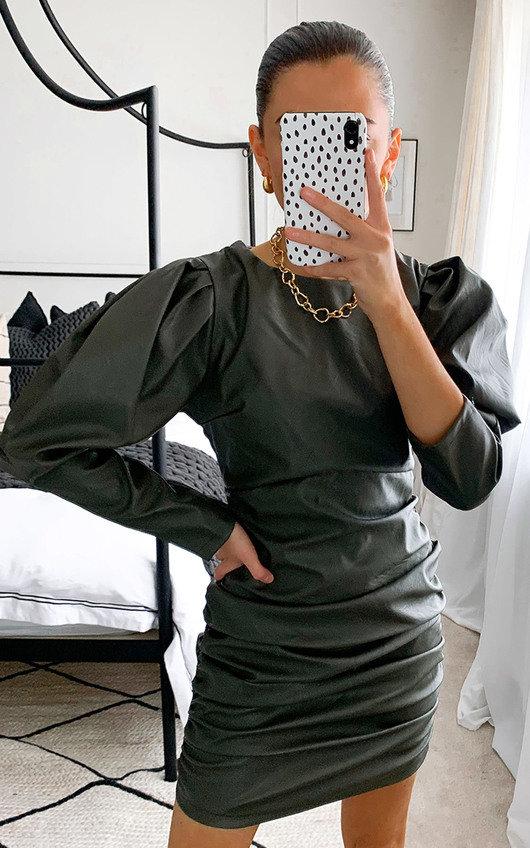Colette Faux Leather Mini Dress