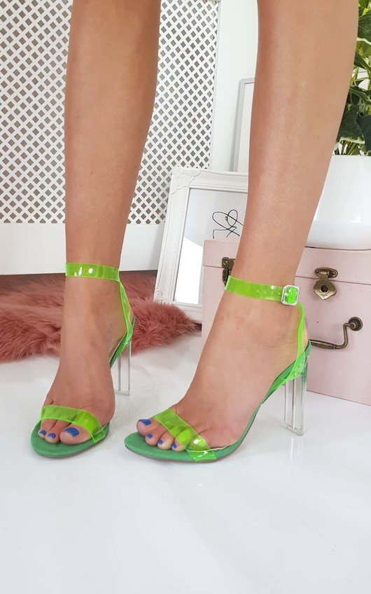 Connie Barely There Perspex Heels