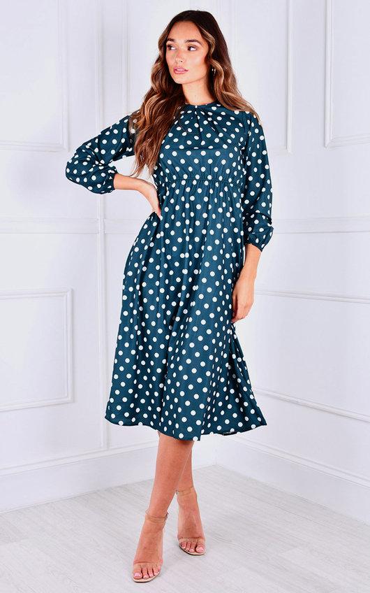 Cora Printed Midi Dress