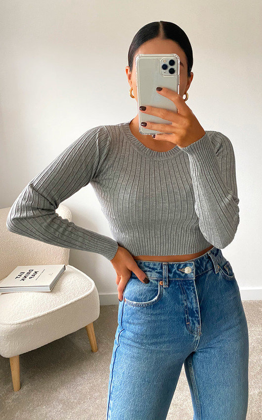 Cora Ribbed Crop Top