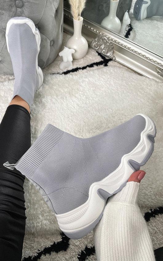 Coral Runner Sock Trainer