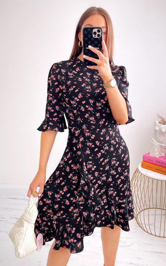 Cori Floral Ruffle Dress