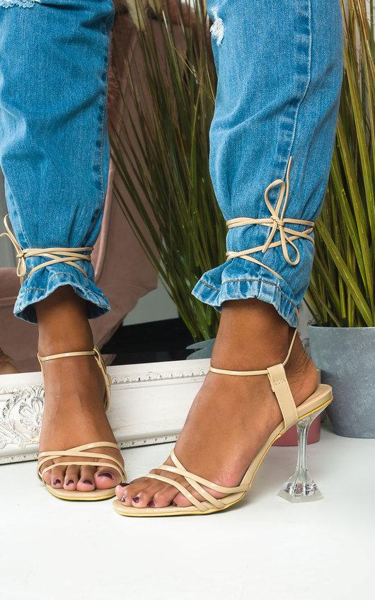 Court Tie Up Perspex Heels