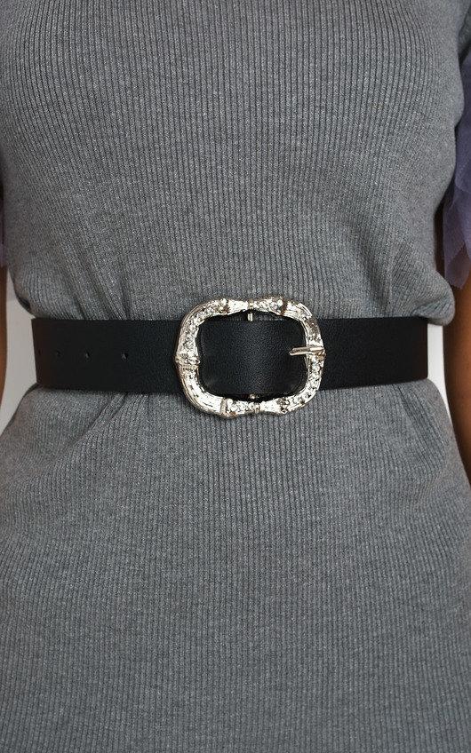 Cowan Diamante Detail Buckle Belt