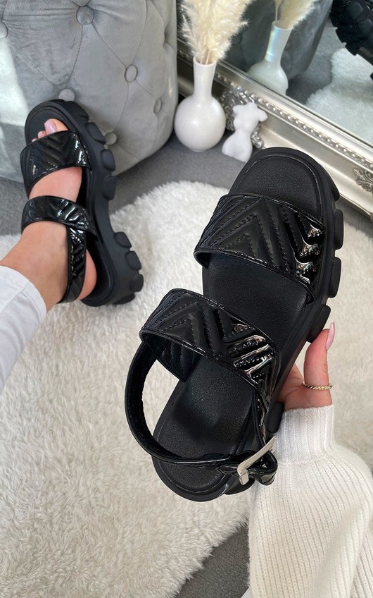 Cyrell Quilted Chunky Sandals