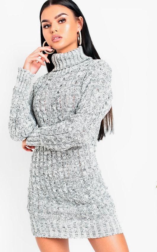 Daffney Chunky Knit Long Sleeved Jumper Dress