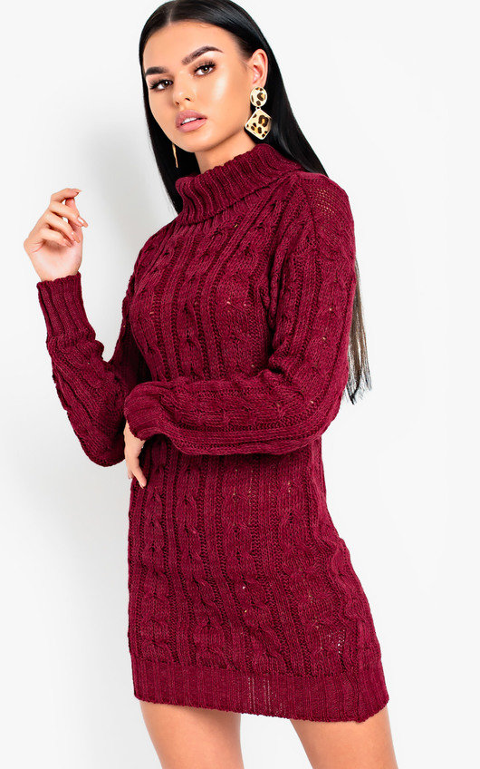 Daffney Chunky Knit Long Sleeved Jumper Dress