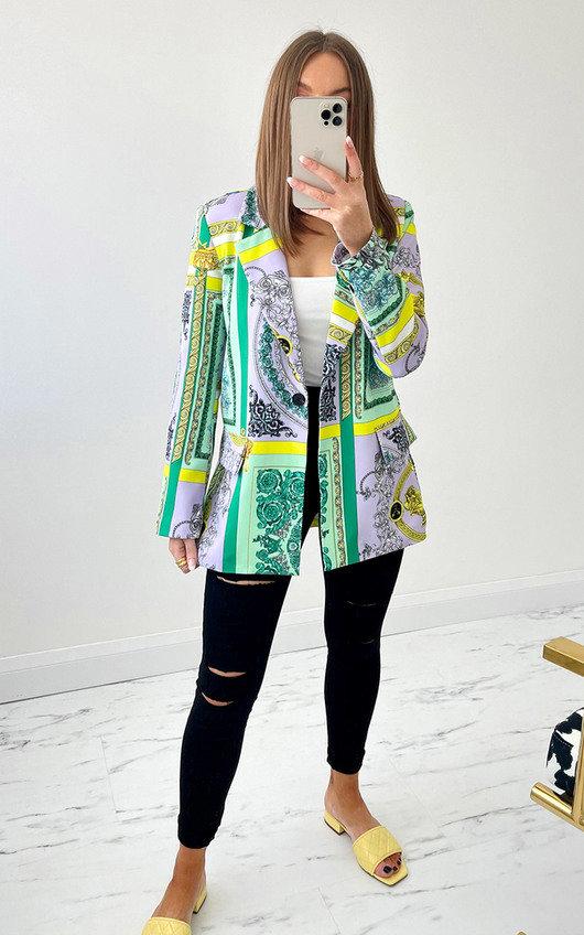 Dahlia Printed Blazer Jacket