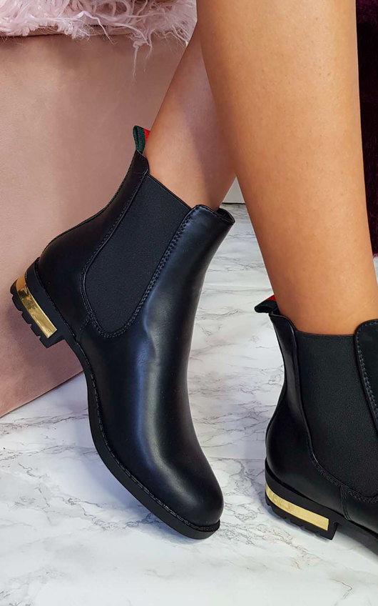 8398fb7e277 Daina Faux Leather Ankle Boots in Black p