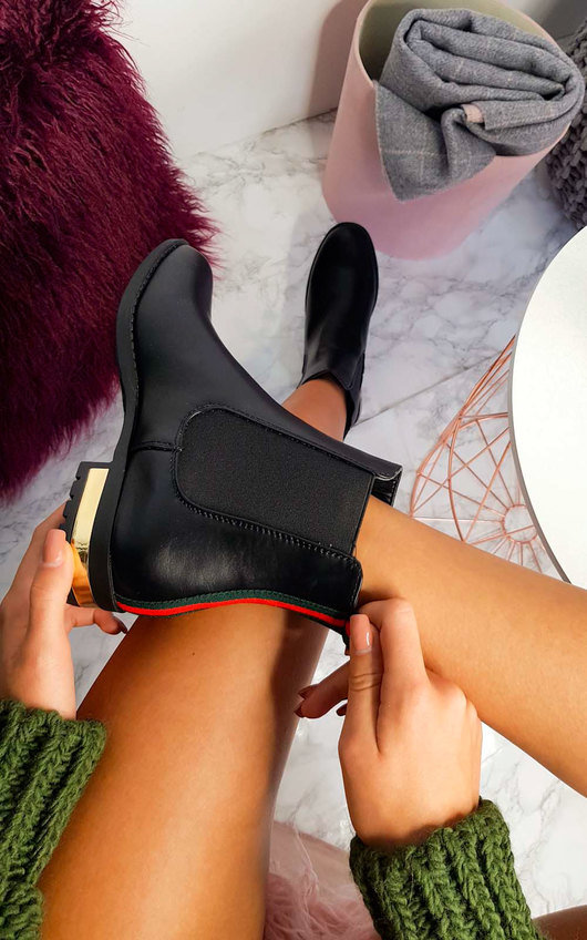 Daina Faux Leather Ankle Boots