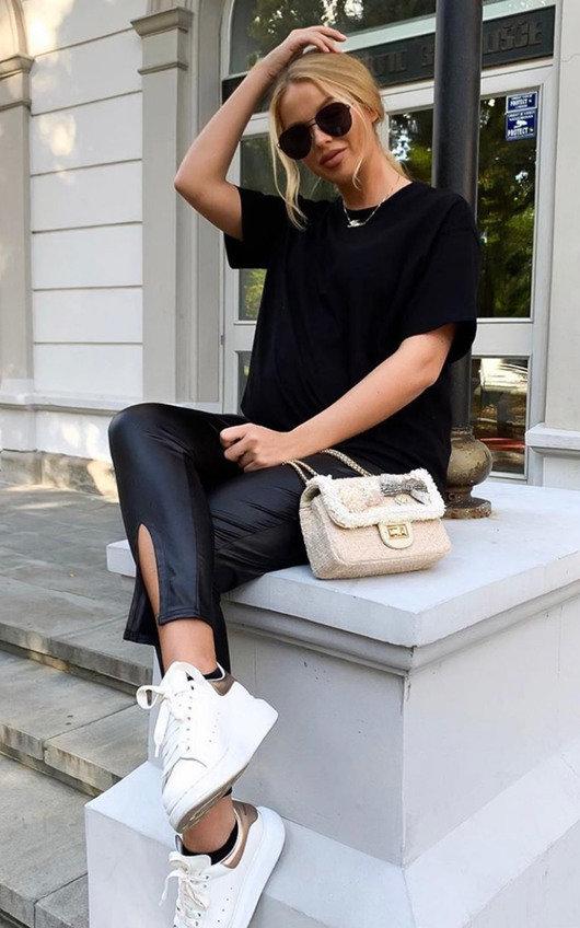 Daisy Pearl & Bow Embellished Tweed Shoulder Bag