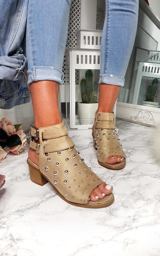 Daisy Studded Peep Toe Sandal