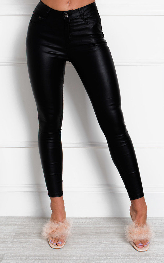 Dala Faux Leather Trousers