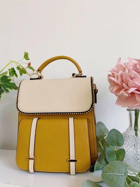 Dali Faux Leather Gold Detail Shoulder Bag