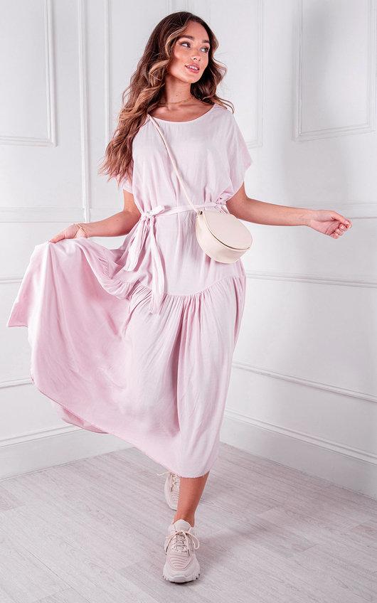 Dalla Belted Oversized Midi Dress