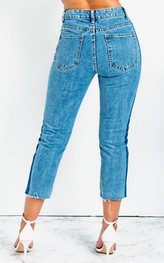 Dani Striped Slim Fit Cropped Jeans