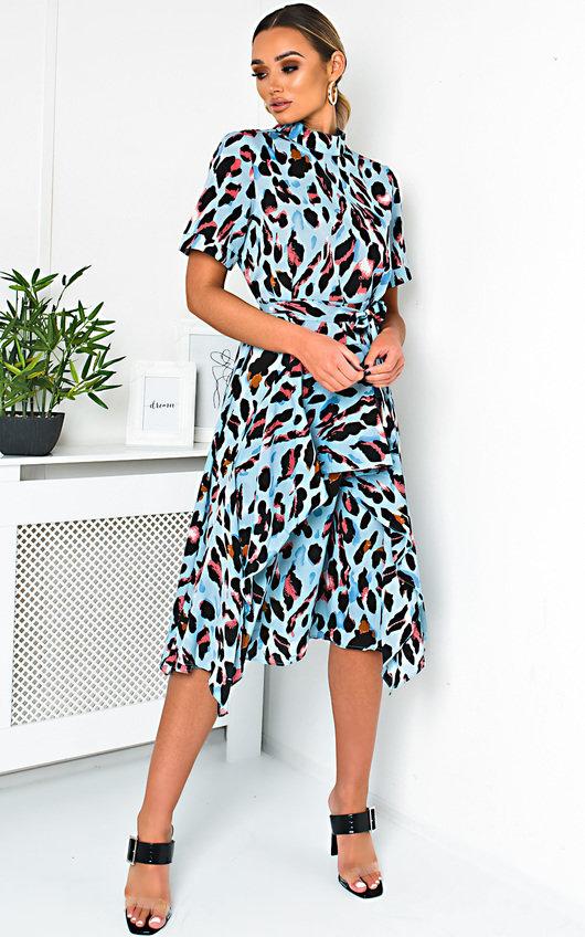 Danica Printed Frill Chiffon Dress