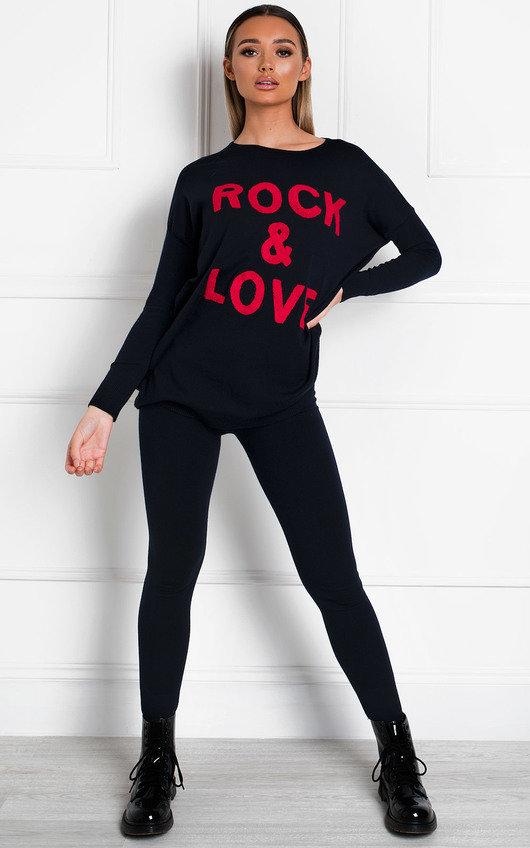 Daniella Slogan Knit Lounge Co-ord
