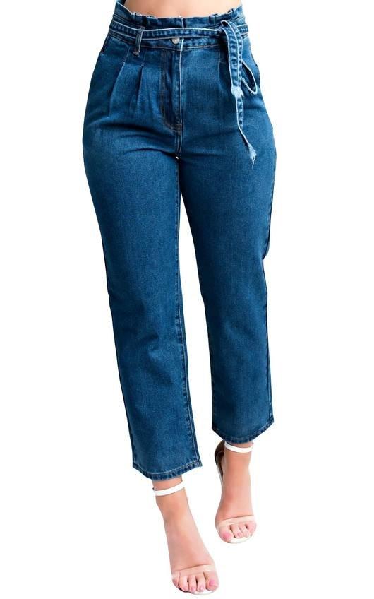 Daphne Tie Waist Mom Jeans