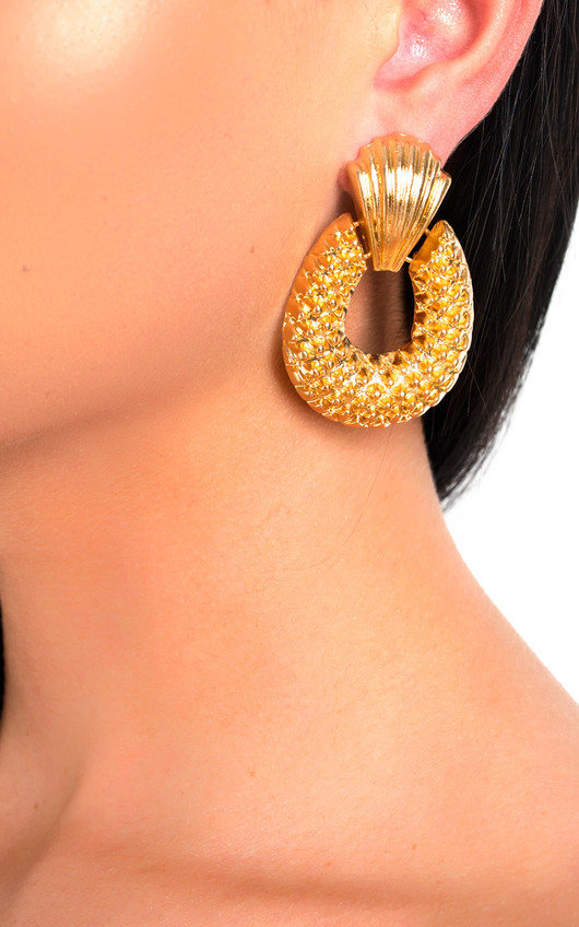 Darcey Pineapple Statement Drop Earrings
