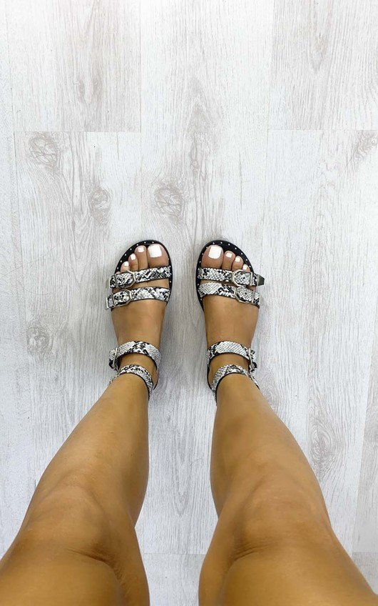 Darcie Strappy Printed Sandals