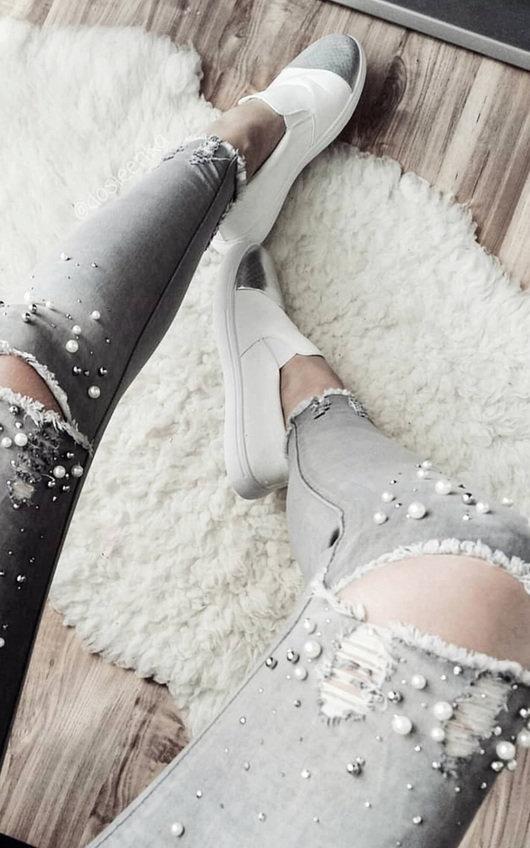 Daria Embellished Frayed Hemline Jeans