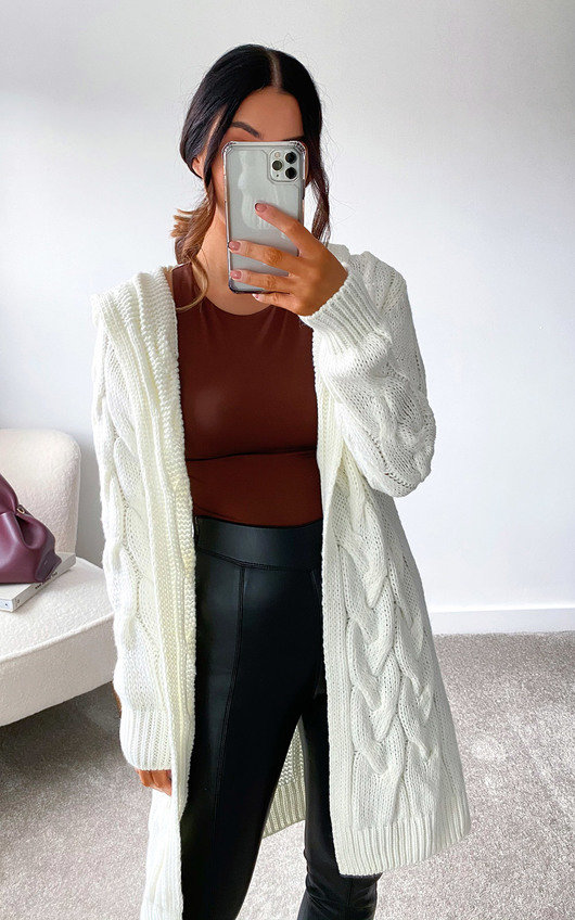 Davina Cable Knit Cardigan