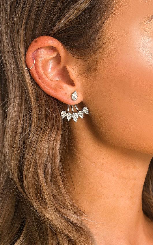 Dee Diamante Tear Stud Earrings