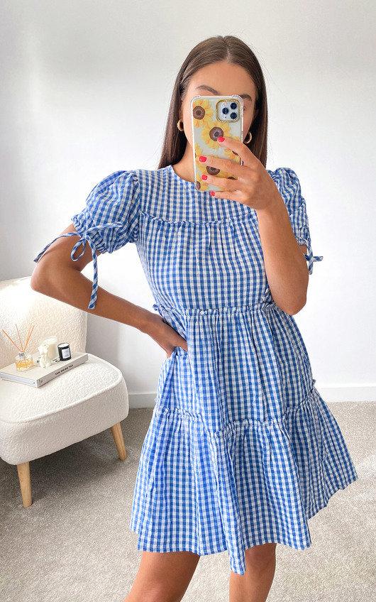 Dee Tie Sleeve Tiered Midi Dress