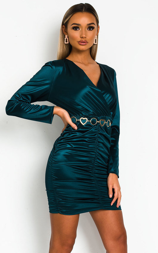 Deirdre Satin Mini Dress